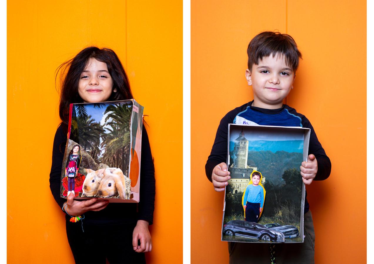 Kinderen van het azc Almelo hebben droomdoosjes gemaakt. Fotografe Myrthe Effing heeft ze geportretteerd.