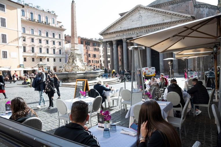 Piazza Navona in Rome. Beeld EPA