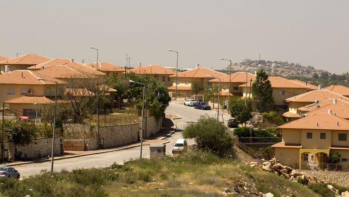 Israëlische nederzetting op de Westelijke Jordaanoever.