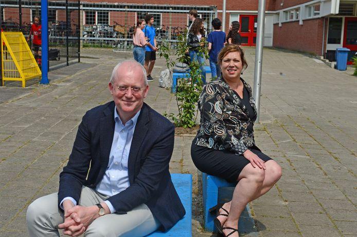 Andries Mulder (VCO)  en Manon Ketz (Stedelijk Lyceum) behoren tot de initiatiefnemers van plannen om de kansenongelijkheid voor kinderen aan te pakken.