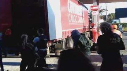 VIDEO: Transmigranten opgepakt aan tankstation in Aalst, deel ontsnapt