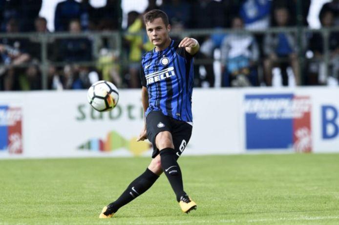 Vanheusden in het shirt van Inter Milaan.