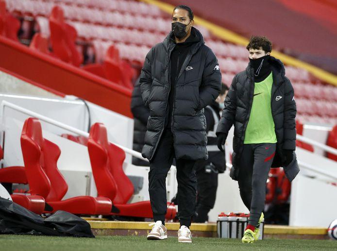 Virgil van Dijk was zaterdagavond op Anfield voor Liverpool - Everton (0-2).