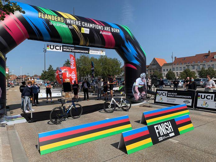 De meet van het WK tijdrijden 2021 ligt op 't Zand in Brugge.