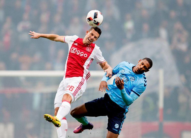 Als Utrecht-speler nam Haller het in 2016 tegen Ajax op. Beeld anp