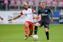 Sean Klaiber zondag in duel namens FC Utrecht tegen RKC.