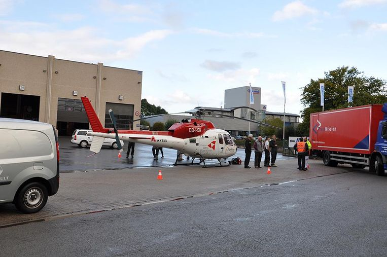Door de omvang van de ongevallen, werd ook een MUG-helikopter ingezet.