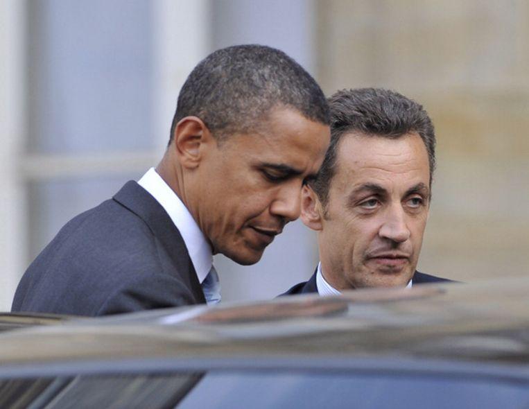 Carla Bruni, echtgenote van de Franse president Sarkozy, hoopt dat de uitverkiezing van Barack Obama Frankrijk inspireert. Foto EPA Beeld