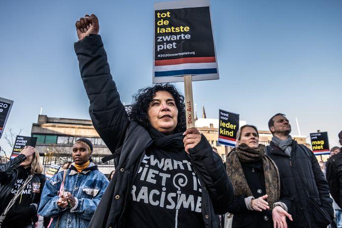 Demonstratie van Kick Out Zwarte Piet in Eindhoven.
