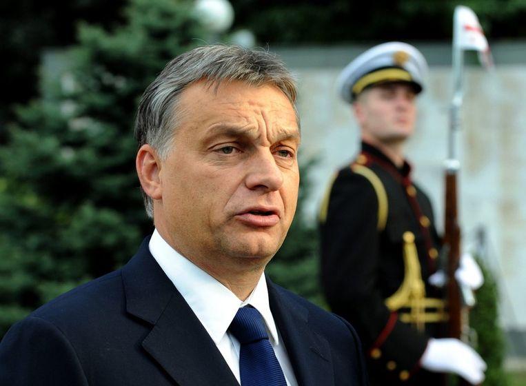 De Hongaarse premier Orbán en zijn partij Fidesz hebben er nooit een geheim van gemaakt wat het einddoel is: een 'illiberale democratie'. Beeld ANP