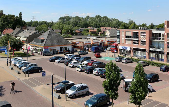 Het dorpsplein van Dodewaard.