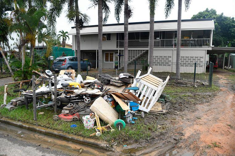 Een recent voorbeeld van extreem weer. Vorige week was er een overstroming in Queensland, Australië. 738 huizen raakten beschadigd, 252 werden onbewoonbaar. Beeld Getty Images