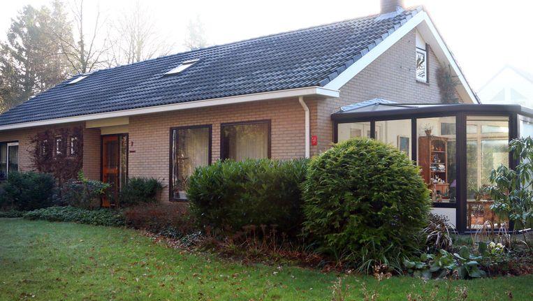 Het huis in het Drentse Exloo van het vermoorde bejaard echtpaar, dat vorig jaar juli dood zijn aangetroffen in bed in hun woning Beeld anp