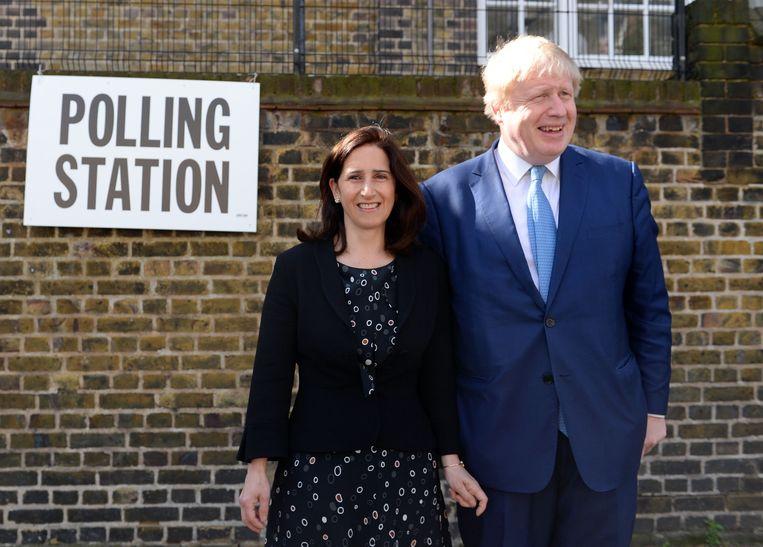 Boris Johnson en zijn echtgenote Marina. Beeld Getty Images