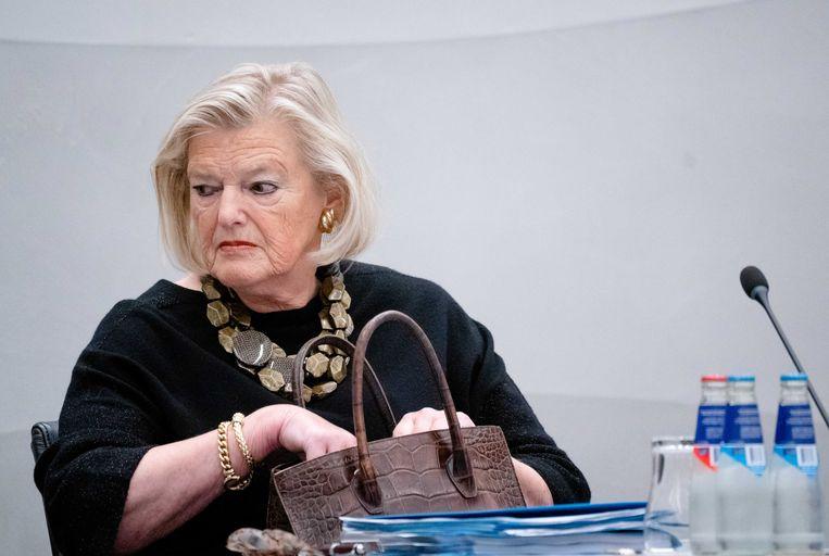 Demissionair staatssecretaris Ankie Broekers-Knol van Justitie en Veiligheid tijdens een commissiedebat over Afghaanse vluchtelingen in de Tweede Kamer. Beeld ANP/Bart Maat