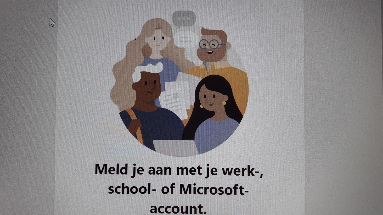 Beginscherm van de app Teams, van Microsoft. Veel gemeenten gebruiken 'm voor digitaal groepsoverleg. Met een toevoeging van Dugga is het systeem geschikt om digitaal toetsen en examens af te nemen.