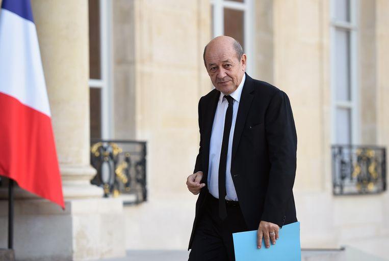 De Franse minister van Defensie Jean-Yves le Drian.