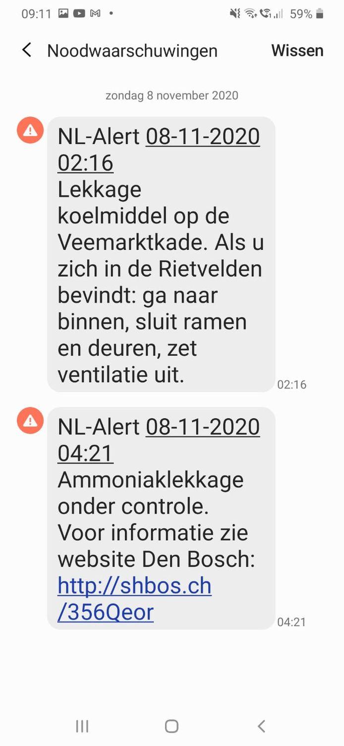 Er is een NL-Alert verspreid.