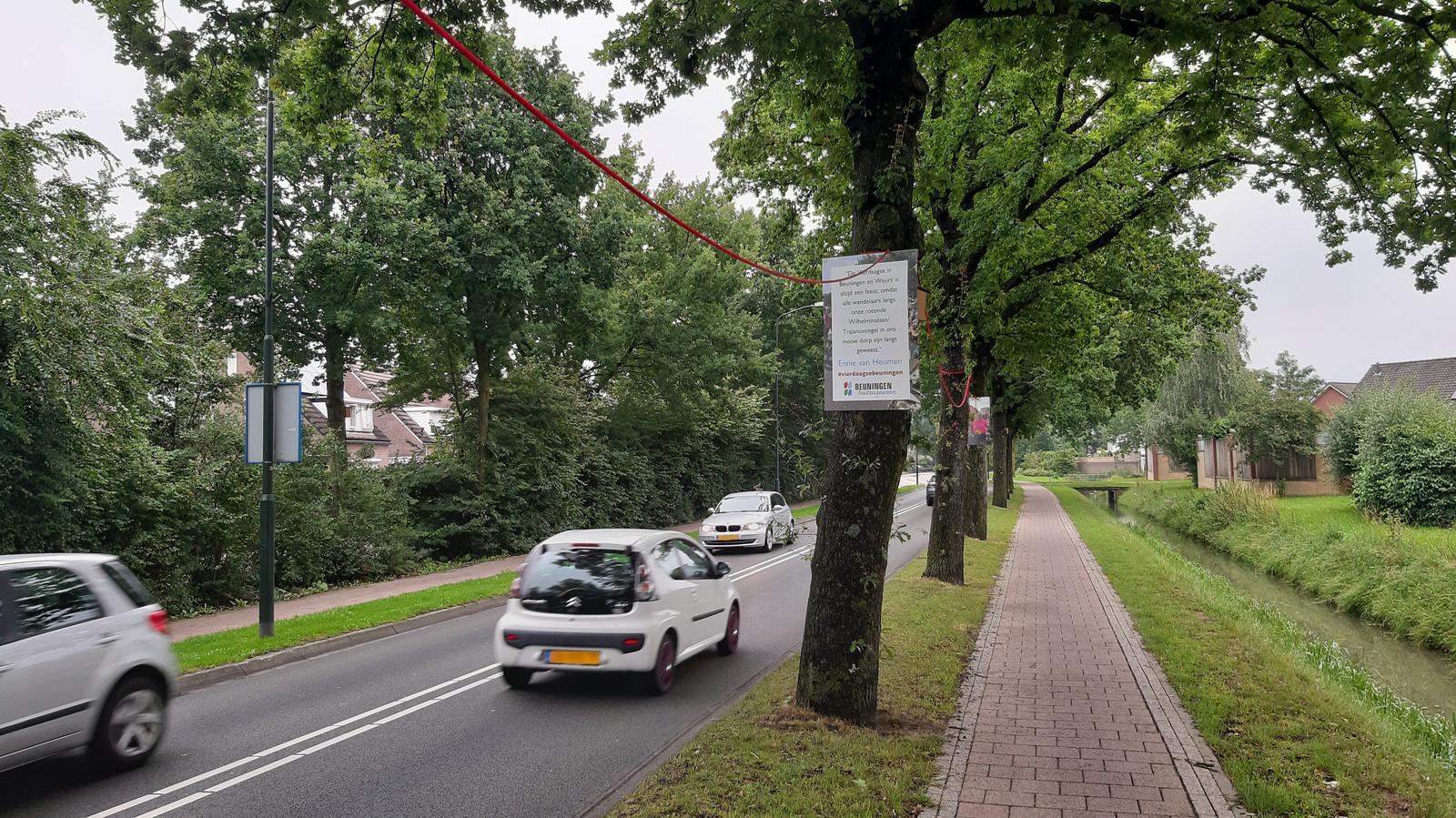 De rode draad met herinneringen in Beuningen.