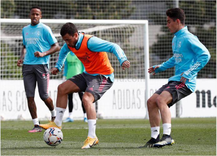 Eden Hazard, vandaag op training.