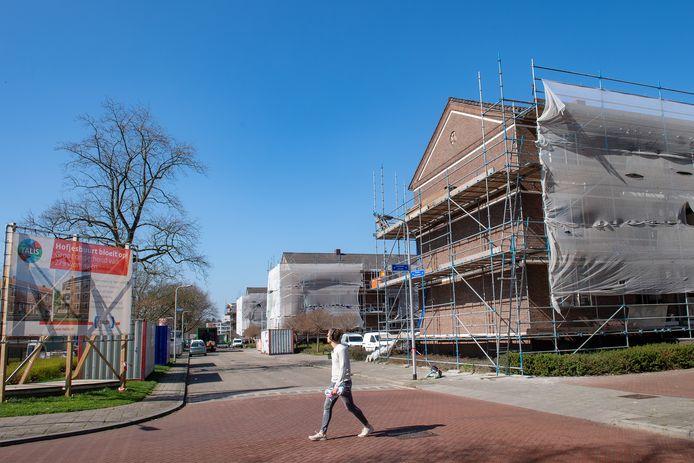 Grootscheepse renovatie van Talis-woningen in de Hofjesbuurt in Nijmegen. Archieffoto