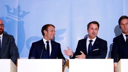 Michel, Macron, Rutte en Bettel vormen gesloten front over asiel en migratie