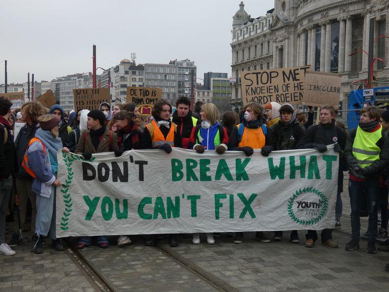 Beeld van de actie in Antwerpen.
