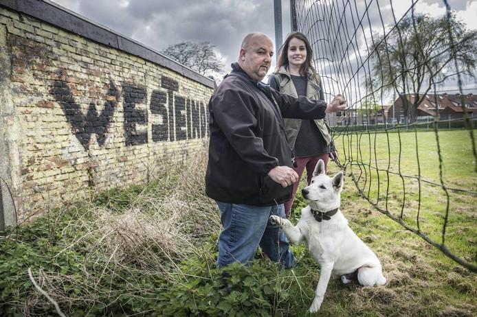 Janie Hoekstra en Danique Pals eerder dit jaar in Westeinde, waar Hoekstra al sinds zijn zevende woont