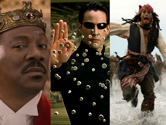 Coming 2 America, The Matrix Reloaded en Pirates of the Caribbean: Dead Man's Chest.