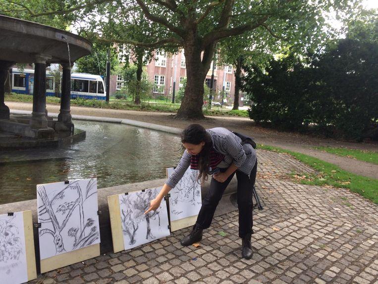 Leer Amsterdam tekenen op het Marineterrein dit weekend. Beeld -