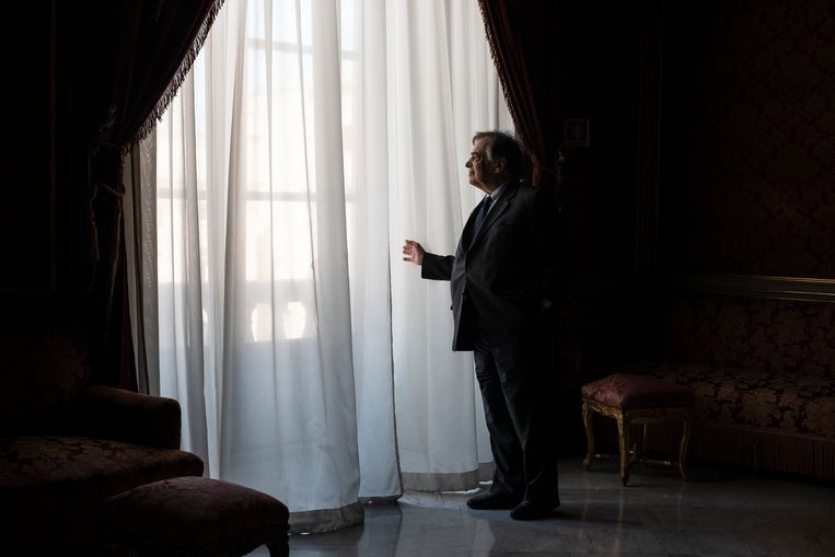 Burgemeester Leoluca Orlando. Beeld Giulio Piscitelli