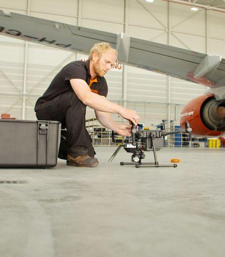 Slimme drones maken onderhoud van vliegtuigen beter: 'Bezuinigingen kunnen juist leiden tot innovatie'