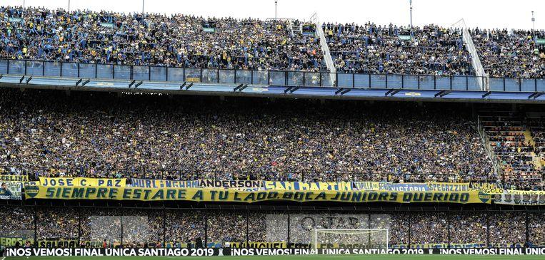 La Bombonera tijdens de heenmatch bij Boca Juniors.