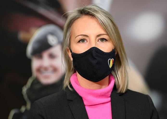 Minister van Defensie Ludivine Dedonder (PS).