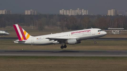 Een Airbus A320 van Germanwings.
