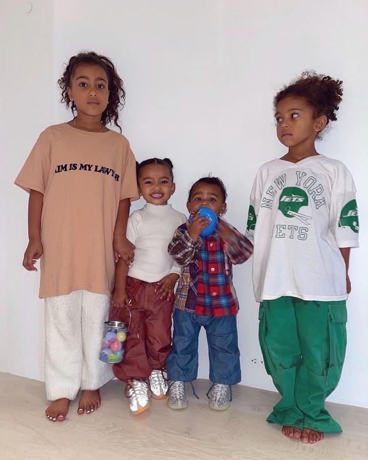 De kinderen van Kim en Kanye.