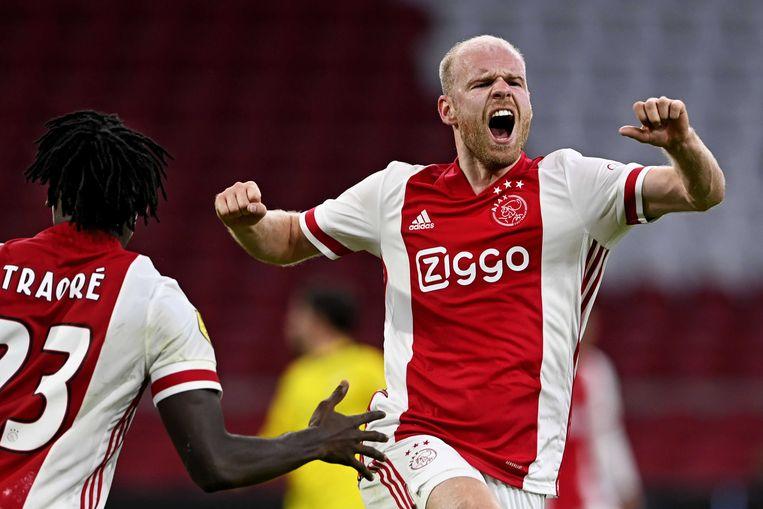 Thuis eindigde Ajax-Fortuna op 31 oktober 2020 in 5-2. Beeld ANP