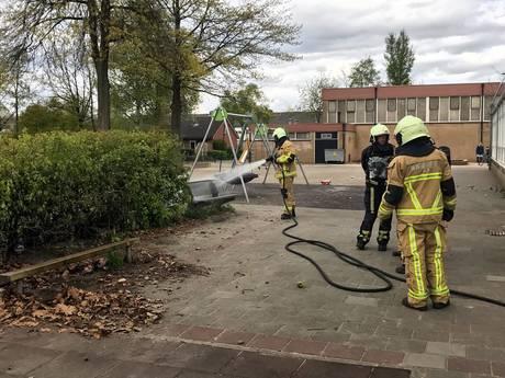 Brand op schoolplein in Oldenzaal