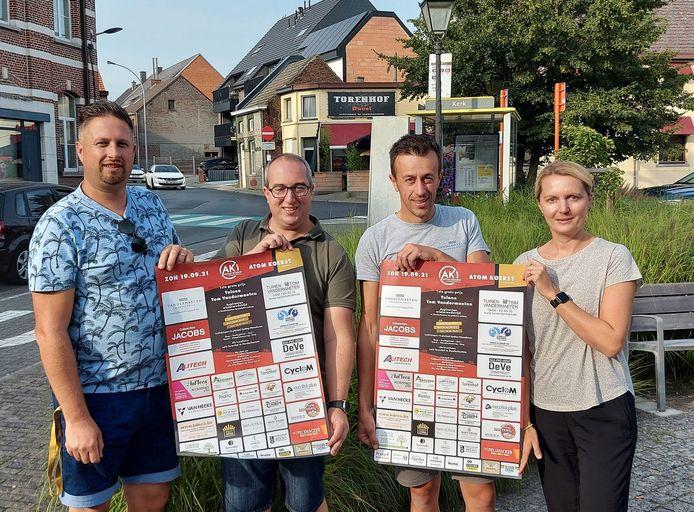 Atom Koerst, een nieuwe vereniging, organiseert zondag haar eerste wielerwedstrijd 'De 1ste Grote Prijs Tuinen Tom Vandermaeten'.