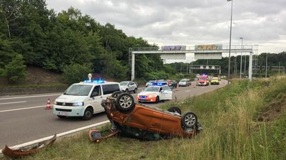 Burgemeester Kasterlee crasht op Antwerpse Ring