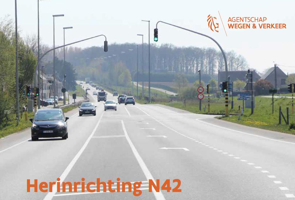 De N42 wordt heringericht.