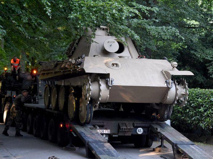 De eigenaar had de tank eind jaren 70 al een keer ingezet als sneeuwploeg.