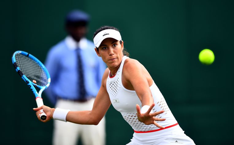 Garbine Muguruza in action on day two of the Wimbledon Championships at the All England Lawn Tennis and Croquet Club, Wimbledon. ! only BELGIUM !