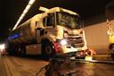 Een tankwagen met melk raakte bij één van de ongevallen zwaar beschadigd.