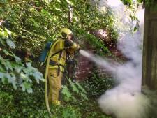Huisje in De Bilt in brand, mogelijk brandstichting