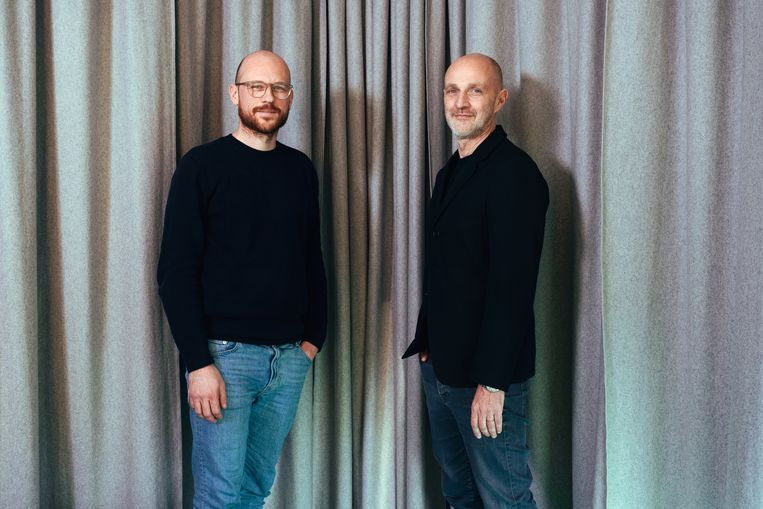 Digital director Thomas Byttebier en medeoprichter Thierry Brunfaut van Base Design.   Beeld Damon De Backer