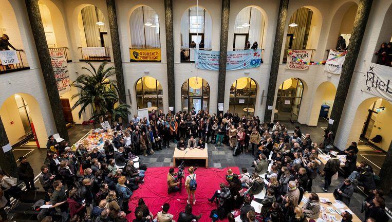 'Bezetting van het Maagdenhuis was een dieptepunt uit het voorbije jaar' Beeld anp