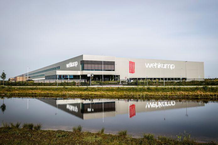 Het distributiecentrum van online warenhuis Wehkamp langs de A28 bij Zwolle.