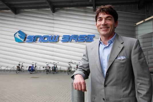 Olivier Beherman wil nog veel meer ontwikkelen in de Koegorspolder. Terneuzen 20120502  Olivier Behrman bij Snow Base;Terneuzen;nl