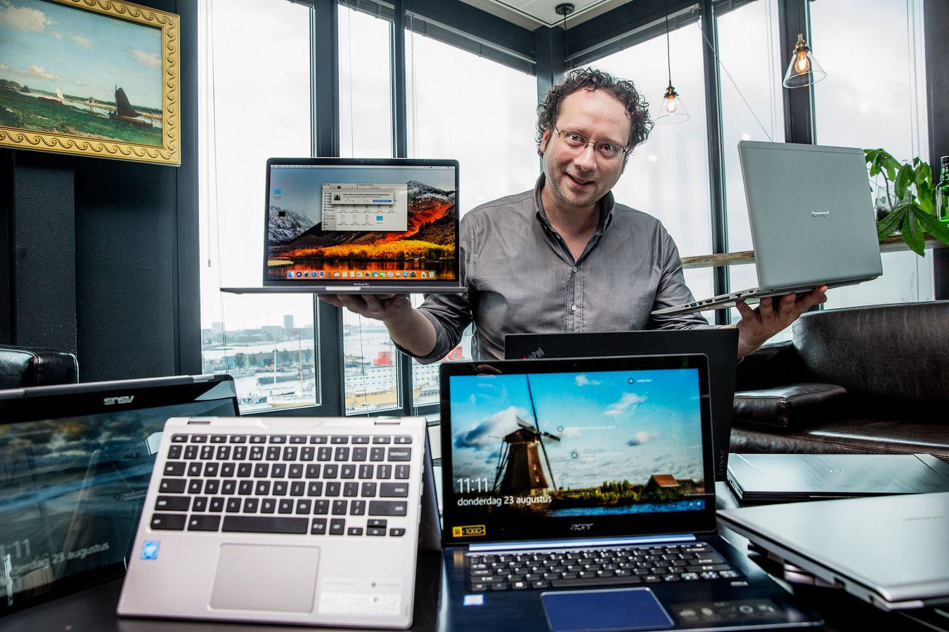 David van Dantzig adviseert om het scherm vanuit alle hoeken te bekijken.